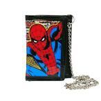 スパイダーマン チェーンウォレット アメコミ 13672 SPIDER-MAN MARVEL 財布 子供用 キッズ お遣い 折り畳み 三つ折り  [メール便可]