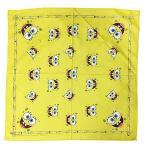 スポンジボブ バンダナ 15439 グッズ イエロー 黄色 スカーフ 三角巾 ランチクロス キャラクター SpongeBob SquarePants