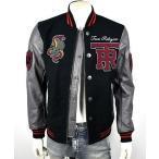コート ジャケット トゥルーレリジョン True Religion Collegiate Logo Patch Varsity Leather Jacket - MSQAR4TF4