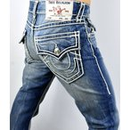 ジーンズ デニム Gパン トゥルーレリジョン True Religion Hand Picked Straight Ropestitch Super T Jeans - 102034