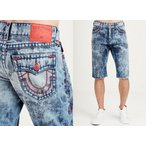 ショートパンツ トゥルーレリジョン True Religion Ricky Pop Red Super T Straight Indigo Fog Shorts - MC087ZX7