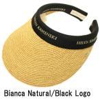 ショッピングヘレンカミンスキー Bianca サンバイザー Natural / Black Logo ヘレンカミンスキー HELEN KAMINSKI 紫外線対策 ゴルフ用にも