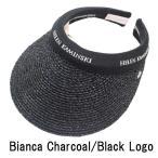ショッピングヘレンカミンスキー Bianca サンバイザー Charcoal / Black Logo ヘレンカミンスキー HELEN KAMINSKI 紫外線対策 ゴルフ用にも