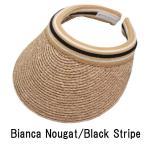 ショッピングヘレンカミンスキー Bianca サンバイザー Nougat / Black Stripe ヘレンカミンスキー HELEN KAMINSKI 紫外線対策 ゴルフ用にも