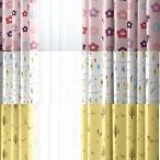 サイズオーダー カーテン キッズ 花柄 小人 小鳥 かわいい おしゃれ 幅70cm〜100cmまで 丈81cm〜150cmまで 1枚入り 子供部屋