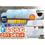 ショッピングビッツ ファイン 水で膨らむ土のう 5枚セット(sb) (メール便不可)(送料無料)
