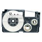カシオ用 ネームランド 互換 テープカートリッジ XR-12WE ラベル 12mm/白テープ/黒文字