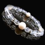 ピンクオパール/10月/誕生石/ブレスレット/数珠ブレス/水晶/天然石/バースストーンブレスレット/パワーストーン