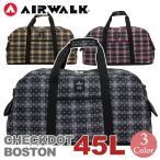 ボストンバッグ AIRWALK エアウォーク 45L 大容量 チェックドット ショルダー付き ショルダーバッグ メンズ レディース ユニセックス 送料無料 ブランド セール