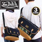 VonDutch ボンダッチ ショルダーバッグ メッセンジャーバッグ Von Dutch 丈夫なナイロンシリーズ フラップ メンズ レディース 通学 通勤 VD174