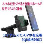 【好評販売中】ワイヤレス充電式車載用電動スマホホルダー(Qi規格対応) iPhoneX、iPhone8/Plus GALAXY