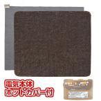 ホットカーペット3畳 電気カーペット3畳 本体+無地柄 アムリ ホットカーペットカバー付セット販売