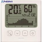 TANITA グラフ付きデジタル温湿度計 白色 TT-581 ▼148-7310(株)タニタ