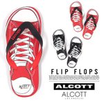 メール便送料無料 アルコット ビーチサンダル メンズ コンバース柄 ALCOTT イタリア Italy インポート 夏