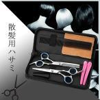 散髪 理容 はさみ ヘアカット スキバサミ 2本セット 収納ケース付き 美容師 散髪 すきばさみ セルフカット 日本郵便送料無料PK2