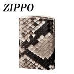 ZIPPO 革巻 パイソン 手作り ジッポー 日本製 zippo ギフト プレゼント ジッポ おしゃれ オイル 父の日 ライター