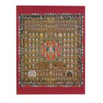 仏画ポスター 胎蔵界曼荼羅 81019/視覚で感じるホトケの存在。飾りやすいサイズの仏画ポスター。