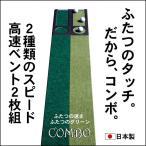 ショッピングパター パターマット工房 15cm×3m×2枚組 COMBOパターマット 距離感マスターカップ2枚付き 日本製 パット 練習