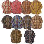 HOUSTON ヒューストン チェックシャツ メンズ チェックシャツ ネルシャツ ワークシャツ 長袖シャツ