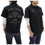 機動戦士ガンダム 突撃機動軍ワッペンベースワークシャツ ブラック Lサイズ