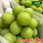 送料無料 山梨県産 シャインマスカット 秀品 5〜7房入り 5kg