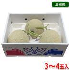 島根県産 アールスメロン 秀品 3〜4玉入 (箱)