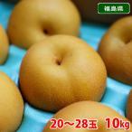 送料無料 福島県産 梨 豊水 20〜28玉入り(10kg)