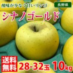 送料無料 長野県産 シナノゴールド 10kg 28〜32玉入り(箱)