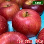 送料無料 長野県産 シナノスイート 秀品 26〜28玉入り(1箱)