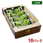 送料無料 山梨県産 シャインマスカット 350〜400g×10パック詰め (箱)