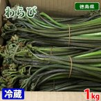徳島県産 わらび 1kg(箱)