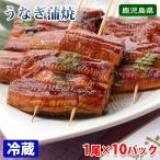 送料無料 国産 うなぎ蒲焼き(真空パック) 約110gサイズ×10尾セット(タレ・山椒付き)