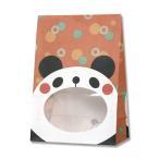 紙袋/シモジマ HEIKO 紙袋 窓付袋(内側全面ラミネート) パックンバッグ S1F パンダ 50枚