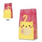 紙袋/シモジマ HEIKO 紙袋 窓付袋(内側全面ラミネート) パックンバッグ No.4 ネコ 50枚
