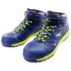 ショッピングブレスサーモ 送料無料 安全靴 ミズノ  ブレスサーモオールマイティ ミッドカットタイプ(ワーキング)[メンズ]ネイビー×イエロー×ブラック