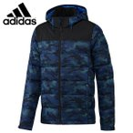 アディダス サッカー フットサル ベンチコート(メンズ) M カモグラフィック ダウンジャケット (AY4090)2016FW