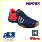 WILSON ウィルソン バドミントンシューズ ヴェルテックス ネイビー VERTEX WRS321680