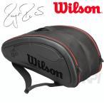 「3月下旬発売予定※予約」「2017新製品」Wilson ウィルソン [FEDERER DNA 12 PACK BK フェデラーモデル WRZ832712]テニスバッグ
