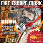 【送料無料】 防災用品 火災時の有毒ガスや熱から命を守る 火災マスク 防煙マスク 防災避難マスク 『FIRE ESCAPE MASK 2個パック』 OA-2420W