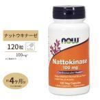 納豆キナーゼ ナットウキナーゼ 100mg 120粒 NOW Foods(ナウフーズ)