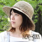 紳士帽 - UV 紫外線 つば広 ストローハット レディース NEWYORK HAT SEA GRASS FRAMER