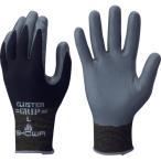 ショーワ ニトリルゴム背抜き手袋 No371組立グリップクラスター ブラック Lサイズ (NO371-L)