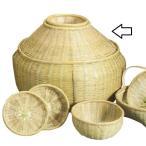 日本製 青竹籠 蓋付磨ビク 魚籠<インテリアやディスプレーとしても・・>