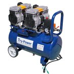 トライパワー電動工具 低騒音 エアーコンプレッサ 2馬力(メーカー直送、代引き不可)