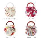 むす美・70綿モダンガールいちごバッグ(リング付)【袋入り】 ふろしき ファッション小物 バッグ レディス小物