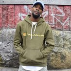 ILLCOMMONS FRONT LOGO HOODIE OLIVE (イルコモンズ フロントロゴ パーカー オリーブ)