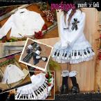 PUCHIGOS ORIGINAL 卒業式 ブラウス・ジャケット(ブレザー)・ブローチ・白地白 ピアノ水玉 スカート 4点セット