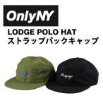 ONLY NY (オンリーニューヨーク) LODGE POLO HAT ストラップバック キャップ