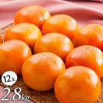 【送料無料】富有柿 2.8kg(12玉) フルーツ詰合せ【メーカー直送 代引不可】 スイーツ お歳暮 冬の果物ギフト