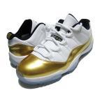 528895-103 限定カラー NIKE AIR JORDAN 11 RETRO LOW  ナイキ エアジョーダン11  WHITE/MTLC GOLD COIN-BLACK
